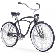 70cm Firmstrong Urban Man LRD Single Speed Beach Cruiser Bicycle, Black