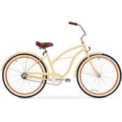 70cm sixthreezero Women's Scholar Single Speed Beach Cruiser Bicycle, Cream