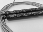 Momentum Elite Speed Jump Rope for Workout Exercise Training Fitness - Easily adjustable, Customised Fit - Anti-friction Nylon Bearings Smooth, Fast Spinning, Weighted Wire - Makes Double Unders Easy