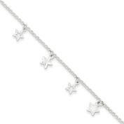 Sterling Silver Polished Star Bracelet