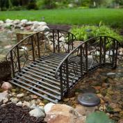 Coral Coast Willow Creek 1.2m Metal Garden Bridge