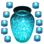 Tea Lights LED Submersible Teal 10pc