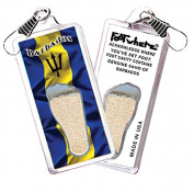 "Barbados ""FootWhere"" Souvenir Zipper-Pull. Made in USA"