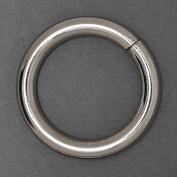 2.5cm - 1.9cm Metal Silver O-Ring Belt Buckle, Fashion Jewellery by 4-pcs, SP-2458