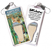 "Puerto Rico ""FootWhere"" Souvenir Zipper-Pull. Made in USA"
