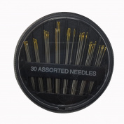 Stainless Steel Assorted Hand Sewing 30 Needles with Box Quilt Embroidery Craft Sew