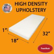 FoamRush 2.5cm H x 46cm W x 80cm L Upholstery Foam High Density Firm Foam Soft Support