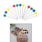 LONG7INES 50 Pcs Flower Sewing Pin Fixed Positioning Needle With Plastic Case, Multicolor Sewing Accessories
