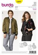 Burda Ladies Plus Size Sewing Pattern 6489 Bomber Jacket & Hoodie