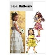 Butterick Childrens Easy Sewing Pattern 4967 Special Occasion Dresses & Sash