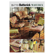 Butterick Homeware Sewing Pattern 4759 Chair Covers, Bags & Cushions