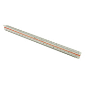 "MonkeyJack 300mm 12"" Plastic Triangular Scale Measuring Ruler 30cm 6 Scales for Engineer Architect Artist"