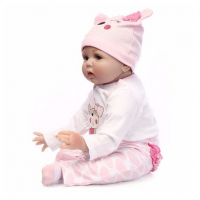 60cm Handmade Lifelike Newborn Silicone Vinyl Reborn Baby Doll Full Body Gifts