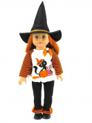 Halloween Black Cat Outfit | Fits 46cm American Girl Dolls, Madame Alexander, Our Generation, etc. | 46cm Doll Clothes