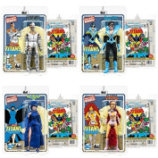 New Teen Titans Retro 20cm Action Figures Signature Series signed by George Perez Set of 4