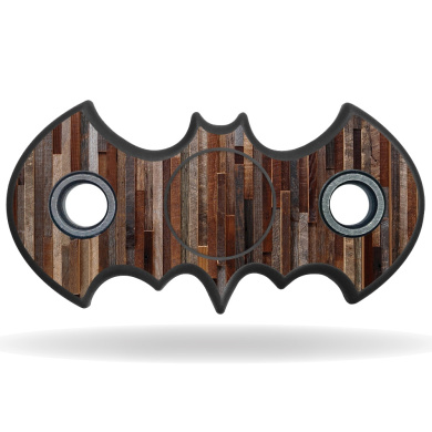 Skin Decal Wrap for Bat Shaped Fidget Spinner toy sticker stress Woody