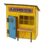 Studio-M Miniature Fairy Garden Peace & Love Potting Shed