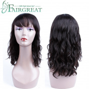Fairgreat Hair None Lace Short Bob Human Hair Wigs For Black Women With Baby Hair Brazilian Natural Wave Non Remy Hair