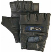 "Atipick Leather Weightlifting Gloves Black Mod. ""Skin. T.S"