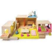 Manhattan Toy MiO Playing, Eating, Sleeping, Working, + 2 People Modular Building Set