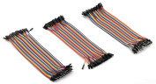 ZYAMY 120PCS Dupont Line Set Male to Male, Male to Female, Female to Female Dupont Cable Connector Multicolor Jumper Wire for Breadboard 20cm