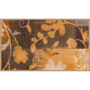 Mainstays Monica Floral Accent Rug, Gold, 0.3m x 0.6m
