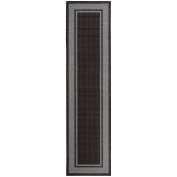 Sweethome Stores Clifton Collection Black Bordered Design Living and Bedroom Runner Rugs, 0.9m x 3m