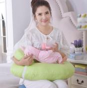 GxNI 45°Breastfeeding Nursing Pillow 100% Cotton U Basic Multifunctional Nursing Pillow Baby Multi-Seat Removable Adjustment Pillow And More Blue /Green /Orange /Pink , Green