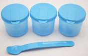First Steps Food Storage Pots with Spoon - BPA FREE ** CHOICE OF COLOURS ** Microwave,freezer and dishwasher safe