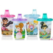 Nuby Cup with Sipper Sippy Cup Princess Design age 9m+ (3 Pack of 300ml) bpa free
