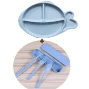 HJXJXJX Tableware Tableware, Children Fallbreak Lovely Green Non-Toxic Whale Modelling Home Plate