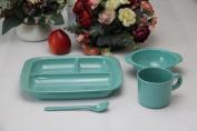 HJXJXJX Baby Rice Bowl Environmental Protection Bamboo Fibre Pure Tableware Children Sub-Grid Plate Bowl