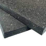 Rubber-Cal Heavy Duty Appliance Mat - 1.9cm x 1.2m Wide x 1.8m Long - Black Rubber Floor Protection Mat