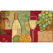 Fleur De Lis Living Bowler Sangria Wine and Fruit Kitchen Mat