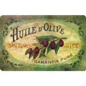 Fleur De Lis Living Bowerton Vintage Olive Oil Kitchen Mat