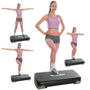 (US Stock)Home Adjustable Step Aerobics Trainer,Exercise Equipment Step Platform For Sports & Fitness,Indoors Outdoors Trainer