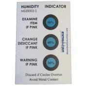 Humidity Indicator Cards, 30-50 Percent 3 Spot, 50 Cardpk