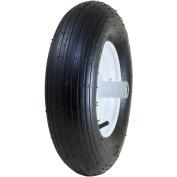 Marathon Industries 20001 20cm Pneumatic Wheelbarrow Tyre with Ribbed Tread 15cm Centred Hub