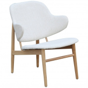 Fine Mod Atel Lounge Chair In White