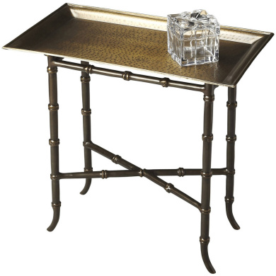 Butler Meiling Antique Brass Tray Table