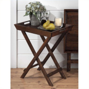 Jofran Folding Accent Tray in Urban Lodge Brown