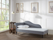 Jennifer Taylor Home Eliana Steeple Grey Tufted Chaise Daybed