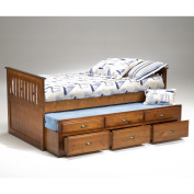 Bernards Captains Bed With Trundle - Cherry
