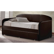 Atlin Designs Faux Leather Upholstered Daybed in Brown