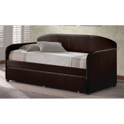 Atlin Designs Faux Leather Upholstered Daybed with Trundle in Brown