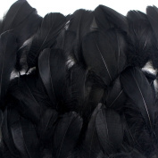 Coceca 300pcs Black Feathers for Various Birthday Party Wedding Festival Party Decorations