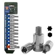 10 Piece Universal Brake Calliper Socket Wrench Tool Set Kit Metric SAE Hex Torx