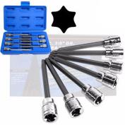 1cm Drive Extra Long Deep Tork Torx Bit Tool Set for Ratchet Socket Wrench