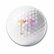 Watercolour Flamingo Flamingo Love White Elastic Golf Balls Practise Golf Balls Golf Training Aid Balls