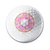 Cartoon Donuts White Elastic Golf Balls Practise Golf Balls Golf Training Aid Balls